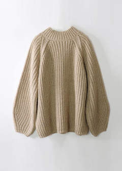 SOLID KNIT TOPS / ソリッドニットトップス【A19AW103-BEIGE】