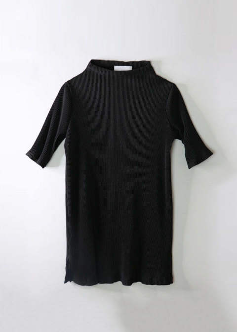 LONG ACCORDION PLEATED TOPS/ロングアコーディオンプリーツドトップス【A19AW102-BLK】