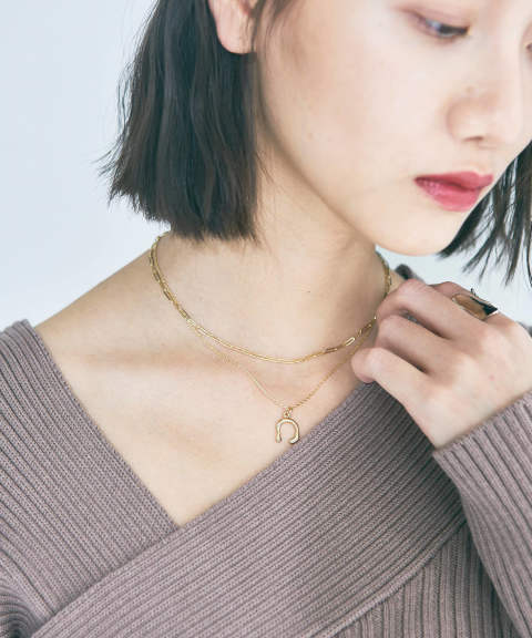 MOTIF DOUBLE NECKLACE / モチーフダブルネックレス