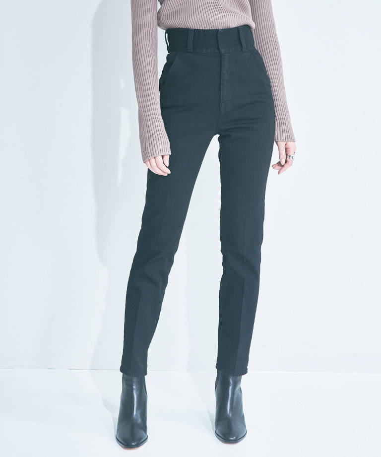 HIGH RISE CREASE JEANS