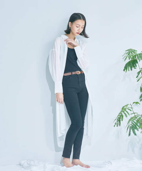 SEE-THROUGH 3WAY LONG SHIRT / 3WAY 透けロングシャツ A20SS104-WHITE ANT