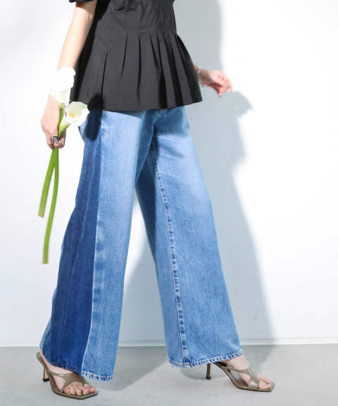 WIDE FLARE JEANS / ワイドフレアジーンズ・デニム A20SS217-INDIGO-S ANT